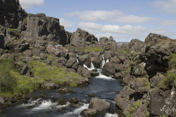 Islande : la faille d'Almannagjá à Þingvellir