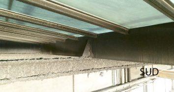 Inspection de toiture, vol en intérieur